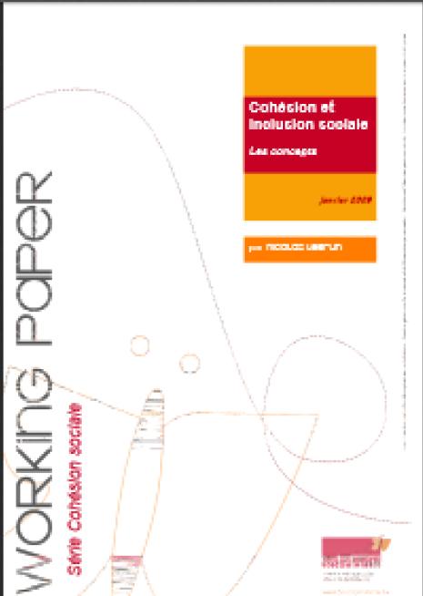 image couverture Cohésion et inclusion sociale les concepts