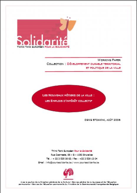 image couverture L ES N OUVEAUX MÉTIERS DE LA VILLE : LES EMPLOIS D 'INTÉRÊT COLLECTIF