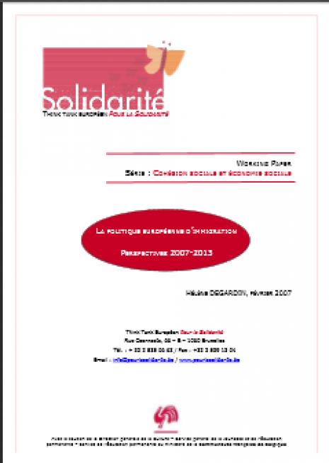 image couverture politique européenne d'immigration perspectives 2007 2013