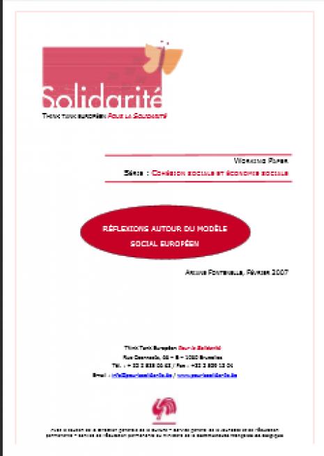 image couverture réflexions autour du modèle social européen