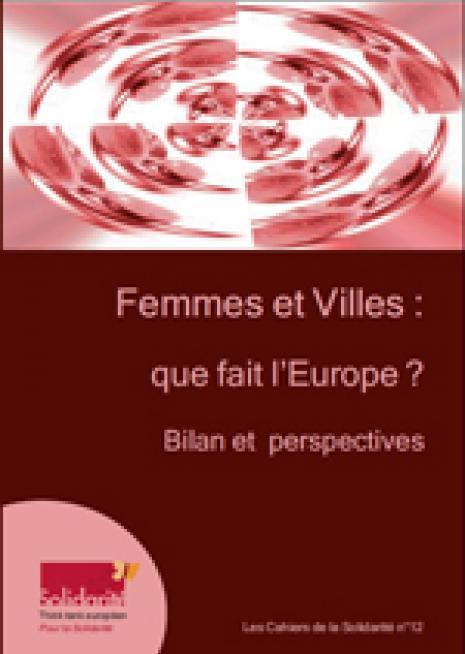 Femmes et Villes : que fait l'Europe? Bilan et perspectives - cover